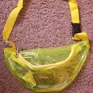 BRAND NEW CLEAR YELLOW FANNY PACK